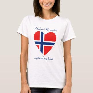 ノルウェーの旗の恋人のTシャツ Tシャツ