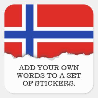 ノルウェーの旗 スクエアシール