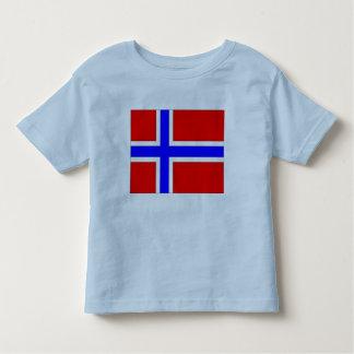 ノルウェーの旗 トドラーTシャツ