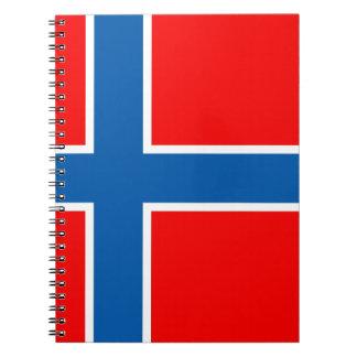ノルウェーの旗 ノートブック