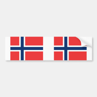 ノルウェーの旗 バンパーステッカー