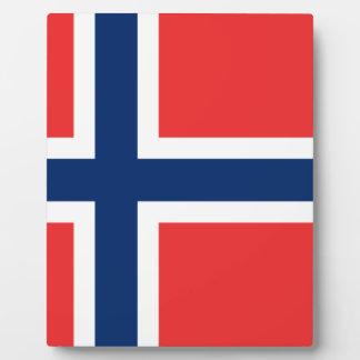 ノルウェーの旗 フォトプラーク