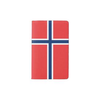 ノルウェーの旗 ポケットMoleskineノートブック