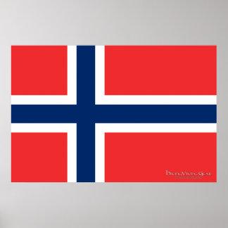 ノルウェーの旗 ポスター