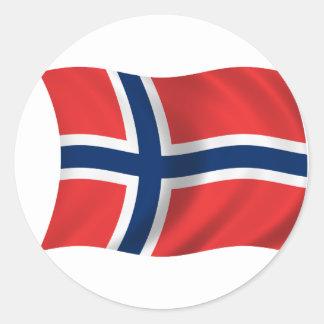 ノルウェーの旗 ラウンドシール