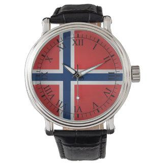 ノルウェーの旗 腕時計