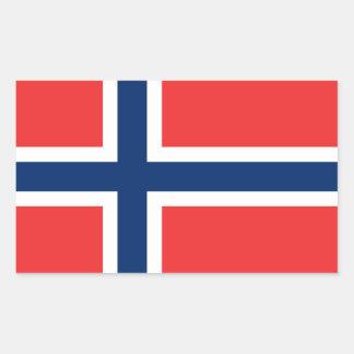 ノルウェーの旗 長方形シール