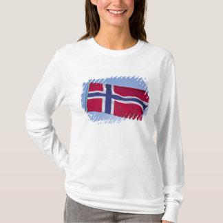 ノルウェーの旗RF) Tシャツ