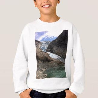 ノルウェーの氷河 スウェットシャツ