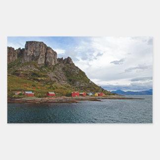 ノルウェーの海岸 長方形シール