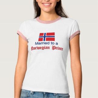 ノルウェーの王子に結婚した Tシャツ