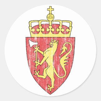 ノルウェーの紋章付き外衣 ラウンドシール
