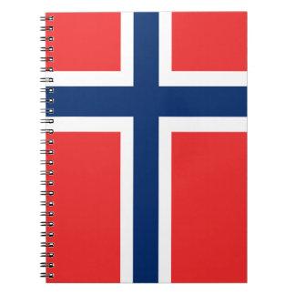 ノルウェーの螺旋綴じのノートの旗 ノートブック