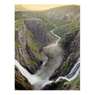 ノルウェーの郵便はがきのVoringsfossenの滝 ポストカード