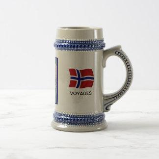 ノルウェーのNansenの旅行、地図 ビールジョッキ