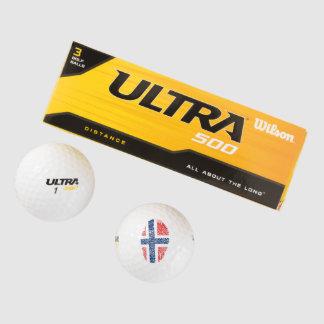 ノルウェーのtouchの指紋の旗 ゴルフボール
