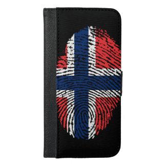 ノルウェーのtouchの指紋の旗 iPhone 6/6s plus ウォレットケース