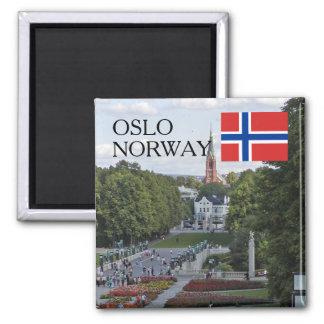 ノルウェースカンジナビアオスロVigeland旅行記念品 マグネット