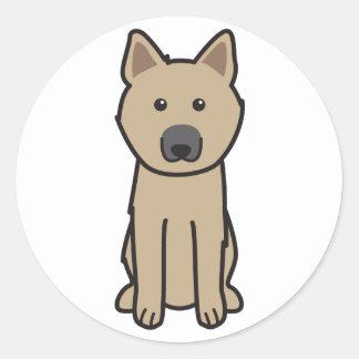 ノルウェー人のBuhund犬の漫画 ラウンドシール