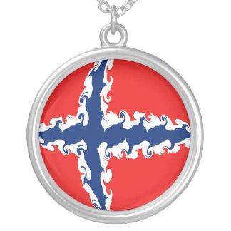 ノルウェー|すごい|旗 カスタムネックレス