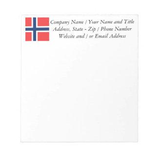 ノルウェー-スカンジナビアの旗 ノートパッド