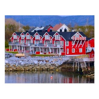 ノルウェー、ベルゲンのWatersideの家 ポストカード