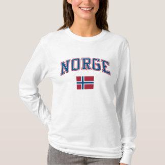 ノルウェー + 旗 Tシャツ