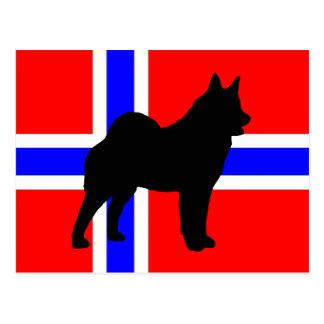 ノルウェーflag.pngのelkieのサイロ ポストカード