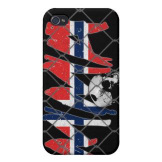 ノルウェーMMAのスカルの黒のiphone 4ケース iPhone 4 ケース