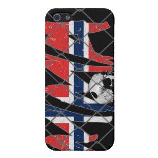 ノルウェーMMAのスカルの黒のiphone 4ケース iPhone 5 ケース