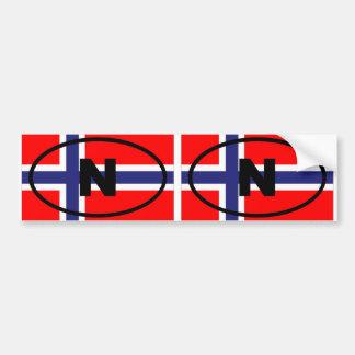 ノルウェーNのヨーロッパの楕円形 バンパーステッカー