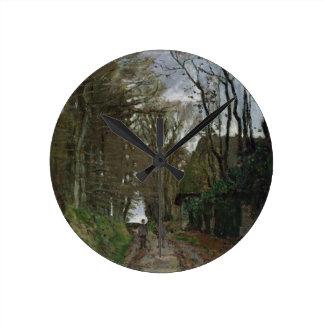 ノルマンディーのクロード・モネ|道 ラウンド壁時計