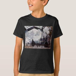 ノルマンディーの列車の到着は暗いTシャツをからかいます Tシャツ