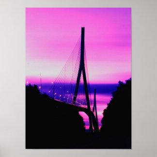 ノルマンディー橋、ルアーブル、フランス2 ポスター