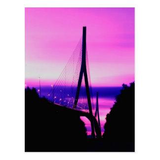 ノルマンディー橋、ルアーブル、フランス2 ポストカード