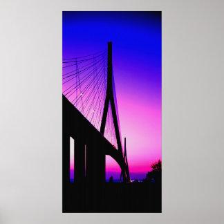 ノルマンディー橋、ルアーブル、フランス ポスター