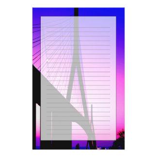 ノルマンディー橋、ルアーブル、フランス 便箋