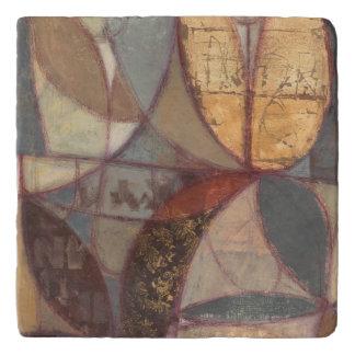 ノルマン人Wyattによる抽象的な花葉の絵画 トリベット