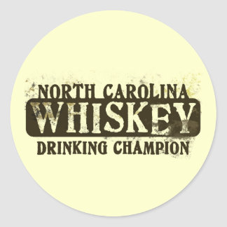 ノースカロライナのウィスキーの飲むチャンピオン ラウンドシール
