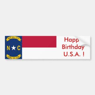ノースカロライナのステッカーの旗 バンパーステッカー