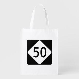 ノースカロライナのハイウェー50 エコバッグ