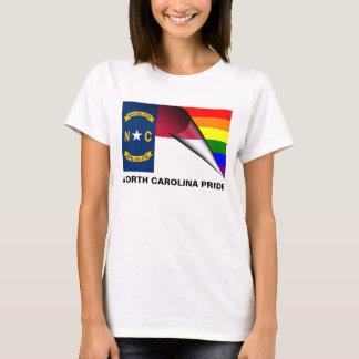 ノースカロライナのプライドLGBTの虹の旗 Tシャツ