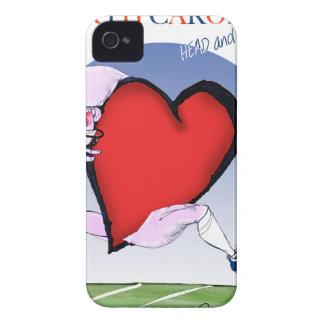 ノースカロライナのヘッドハート、贅沢なfernandes Case-Mate iPhone 4 ケース