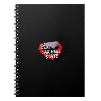 ノースカロライナの国家のための蝋燭のハートのデザイン ノートブック
