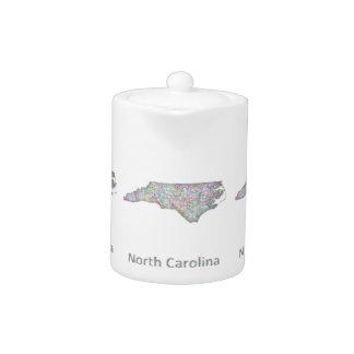 ノースカロライナの地図