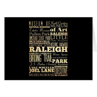 ノースカロライナの州のタイポグラフィのローリー都市 カード