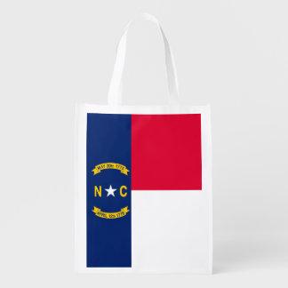 ノースカロライナの州の旗のデザイン エコバッグ