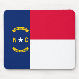 ノースカロライナの州の旗のデザイン マウスパッド