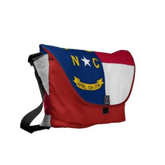 ノースカロライナの州の旗の人力車のメッセンジャーバッグ メッセンジャーバッグ