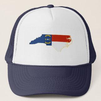 ノースカロライナの州の旗の地図 キャップ
